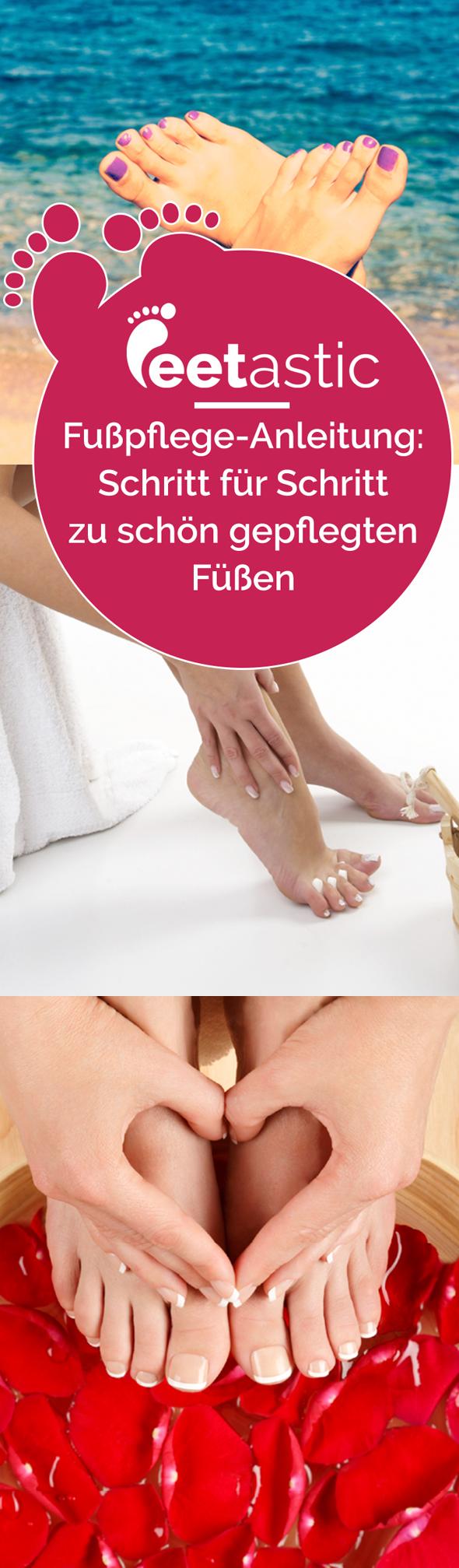 Fußpflege selber machen –wie vom Profi? Mit dieser Fußpflege Anleitung gelingt die Pediküre auch kinderleicht im heimischen Badezimmer. Unsere Fußpflege-Tipps.